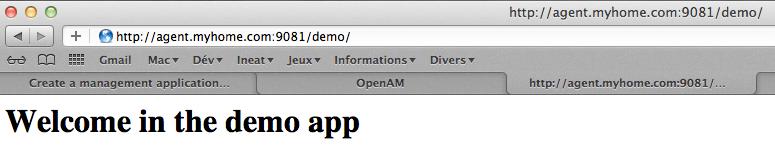 OpenAM - Configurer - Last Step Client avant installation agent