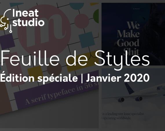 Feuille de styles - édition spéciale Janvier 2020
