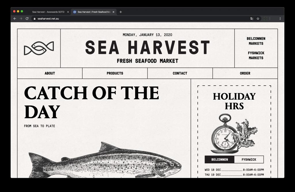 Site web Sea Harvest