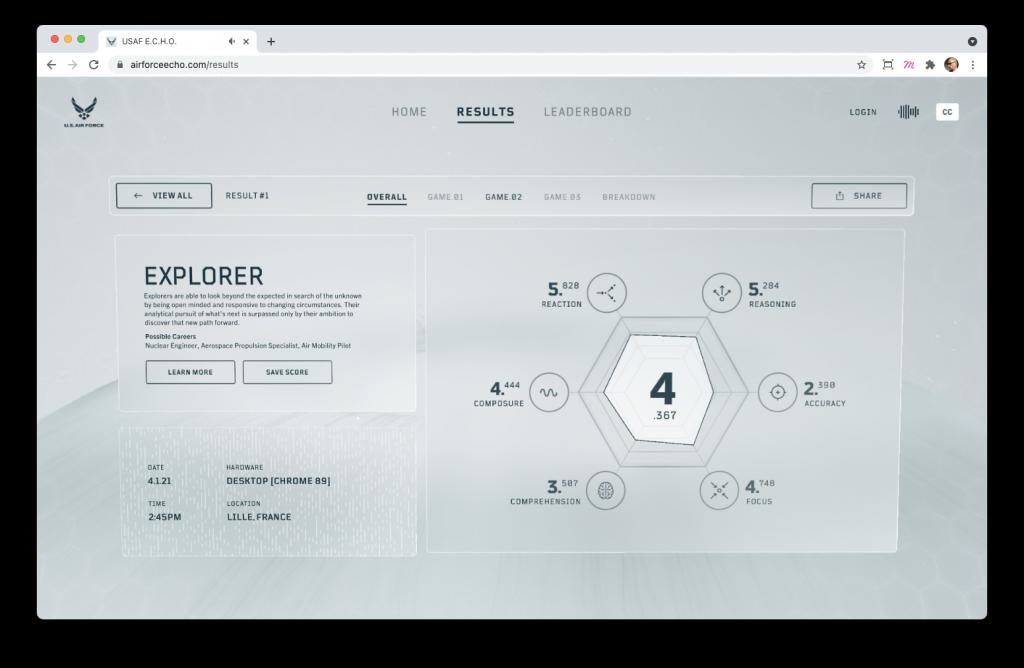 Screenshoot du site E.C.H.O.