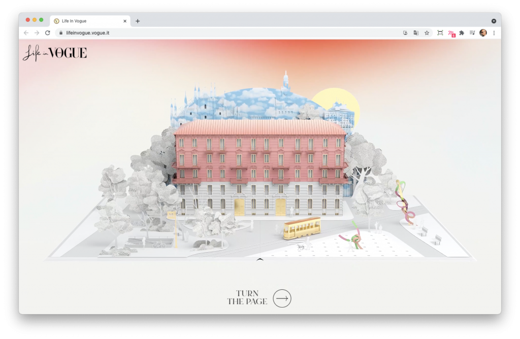Screenshoot de la home page du site Life in Vogue